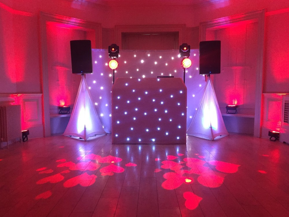 Silver Wedding DJ Package in Red